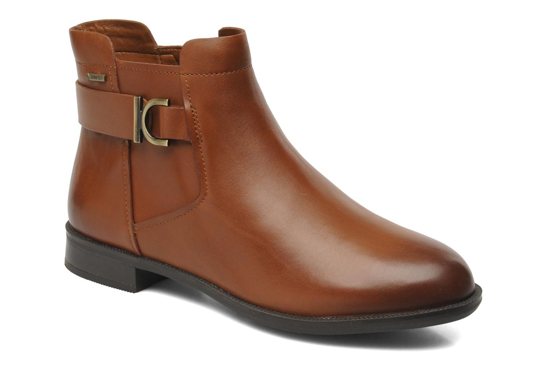 Bottines et boots Clarks Mint Jam GTX Marron vue détail/paire