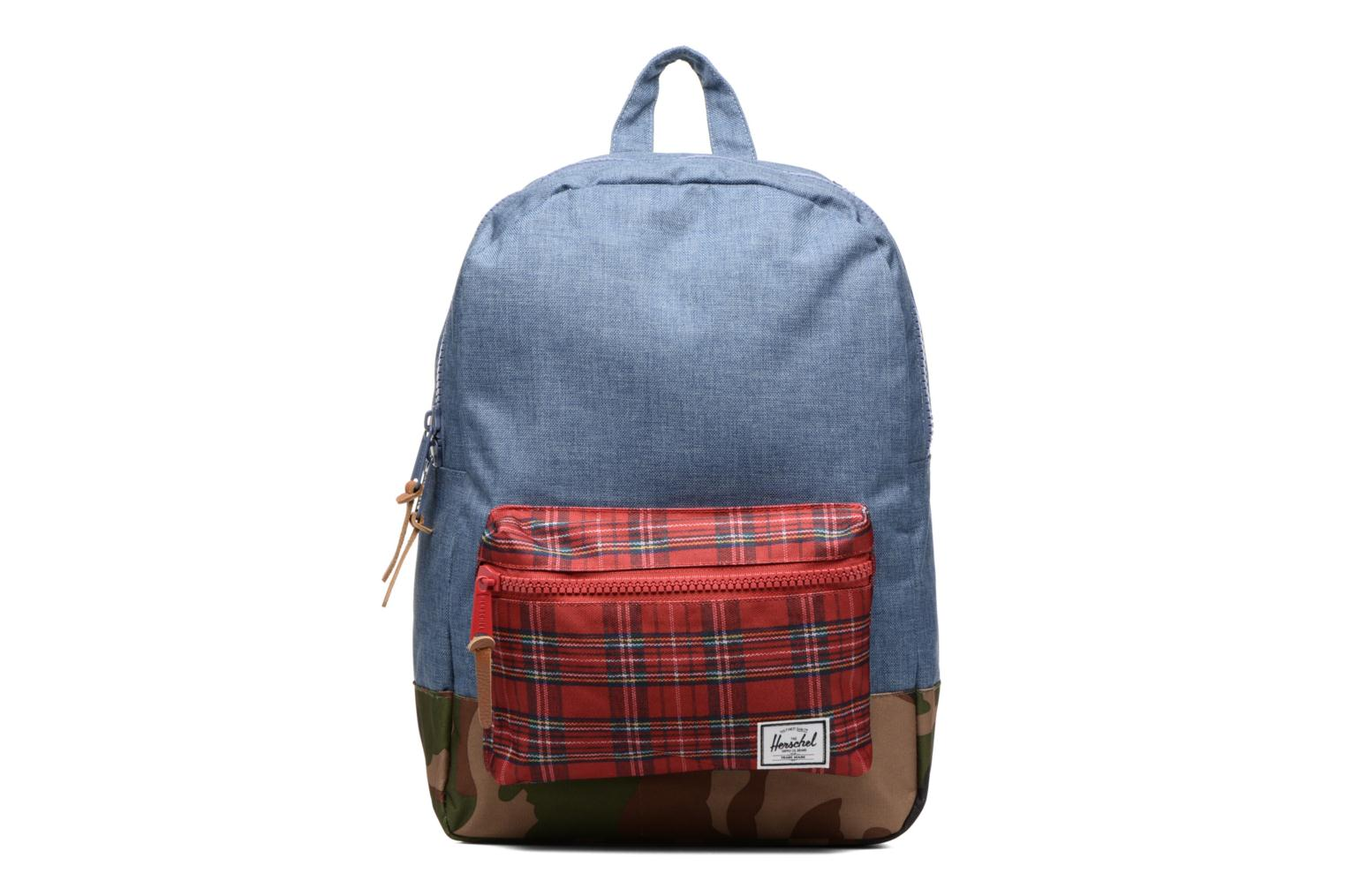 Settlement Navy Crosshatch/Red Plaid