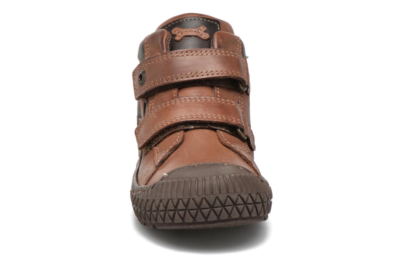 Sneakers Stones and Bones Nevan Marrone modello indossato