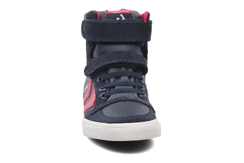 Baskets Hummel TEN STAR ELASTIC JR HI Bleu vue portées chaussures