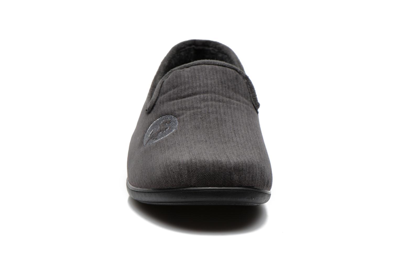 Chaussons La maison de l'espadrille Gaston Gris vue portées chaussures