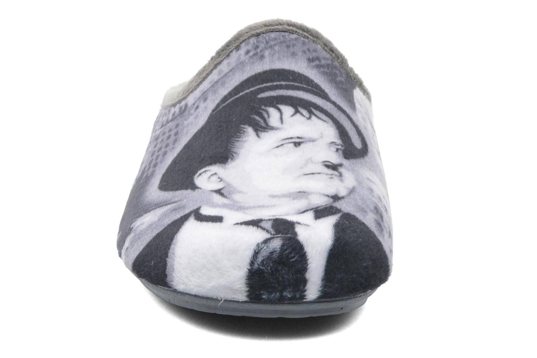 Chaussons La maison de l'espadrille Alfred Gris vue portées chaussures