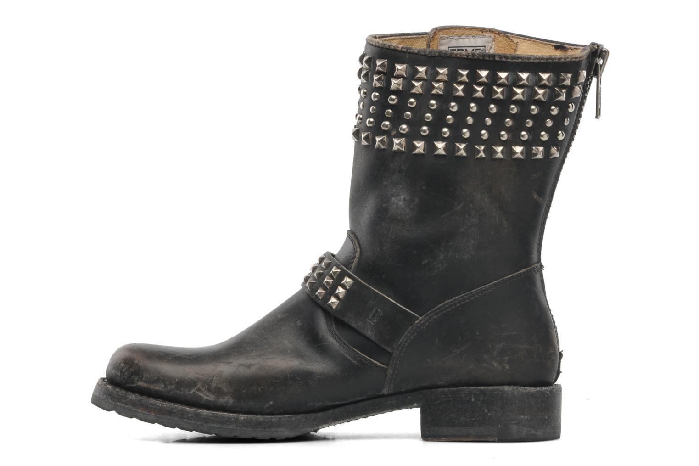 Boots en enkellaarsjes Frye Veronica Biker Zip Zwart voorkant