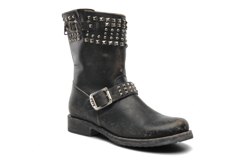 Boots en enkellaarsjes Frye Veronica Biker Zip Zwart detail