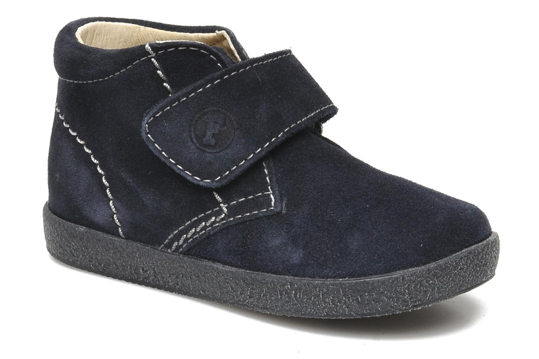 Chaussures à scratch Naturino Mimix 246 Bleu vue détail/paire