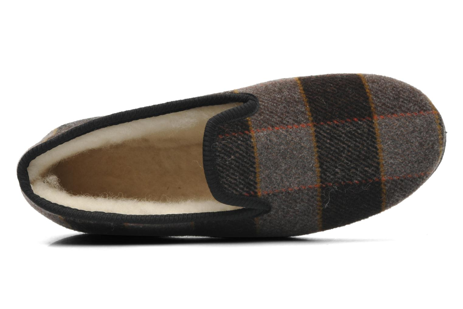 Slippers Rondinaud Donzac Brown view from the left