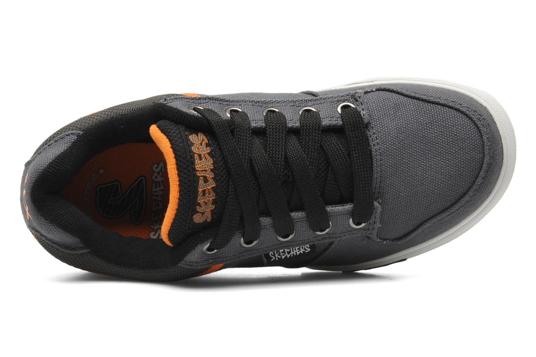 Baskets Skechers Vert II Kick Flipz Gris vue gauche