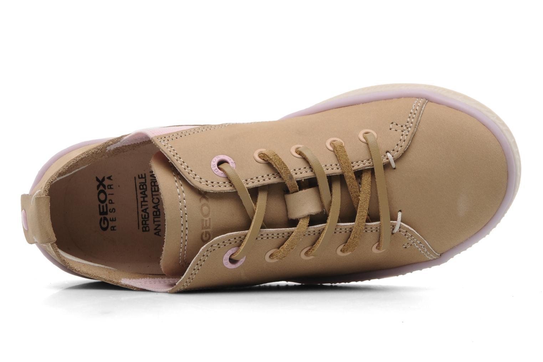 Sneaker Geox JR Y Splinter A beige ansicht von links