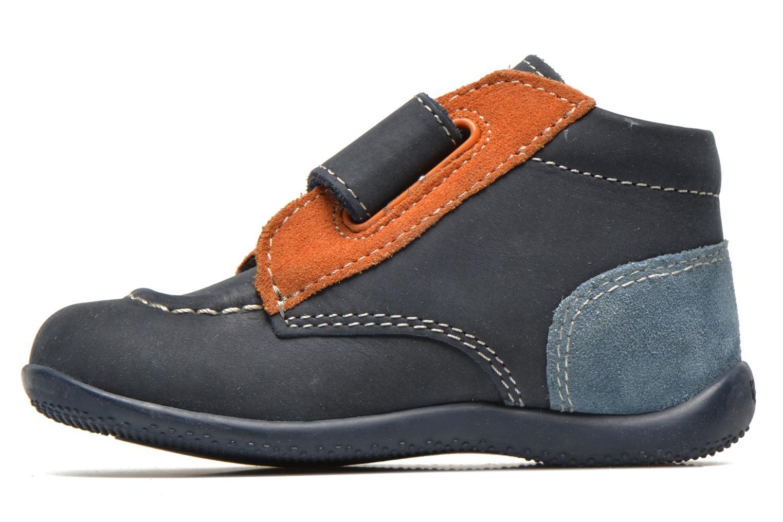Schoenen met klitteband Kickers Bono Blauw voorkant