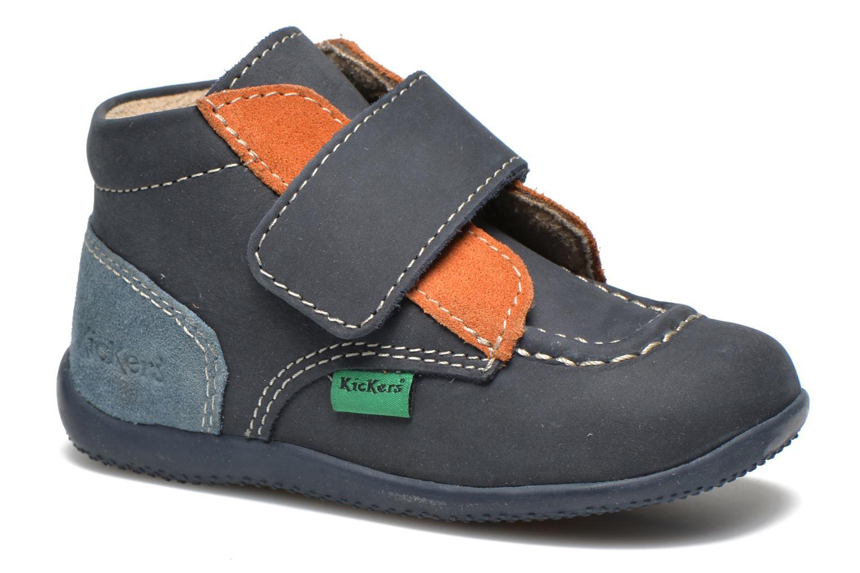 Schoenen met klitteband Kickers Bono Blauw detail
