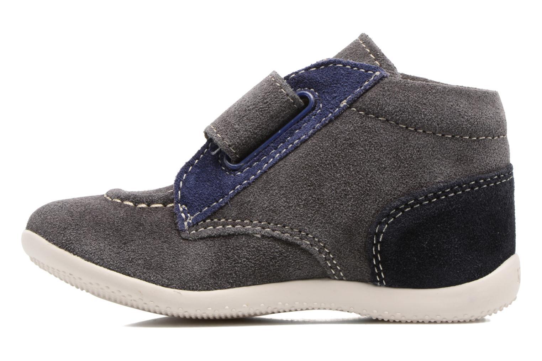 Schoenen met klitteband Kickers Bono Grijs voorkant