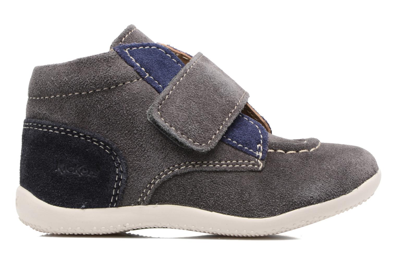 Schoenen met klitteband Kickers Bono Grijs achterkant