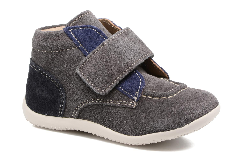 Schoenen met klitteband Kickers Bono Grijs detail