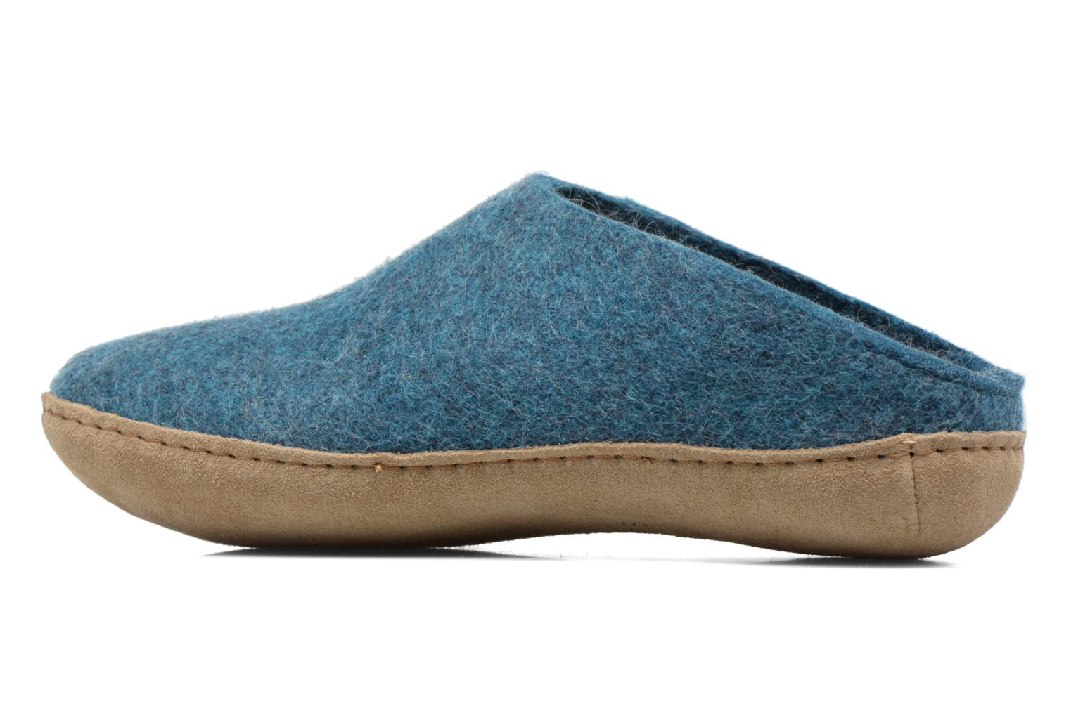 Slippers Glerups Piras M Blue front view