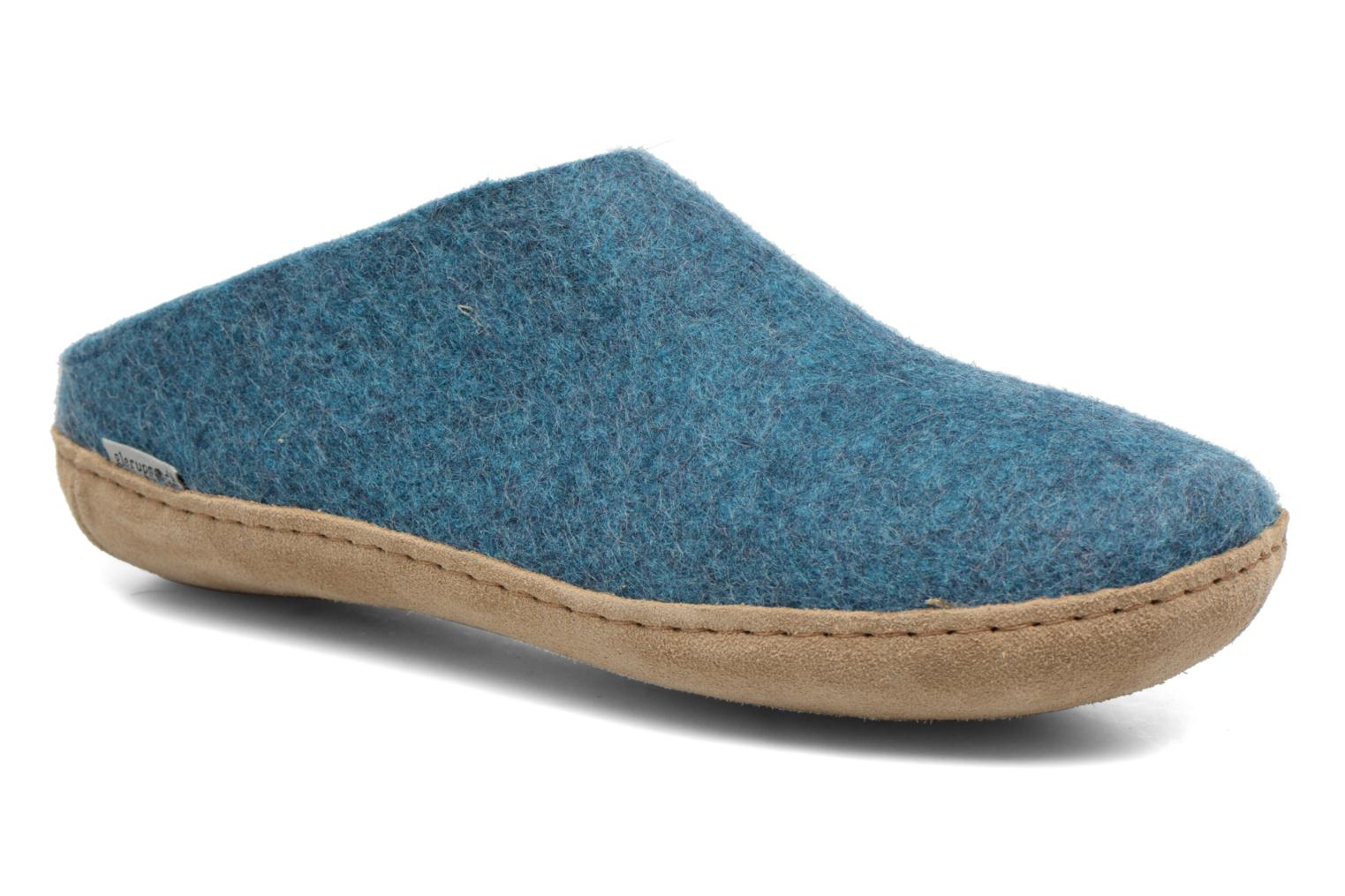 Slippers Glerups Piras M Blue detailed view/ Pair view