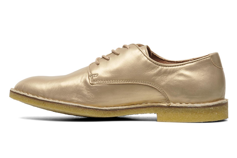 Chaussures à lacets Kickers Neochic Or et bronze vue face