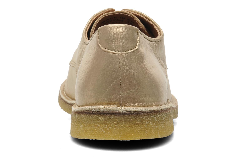 Chaussures à lacets Kickers Neochic Or et bronze vue droite
