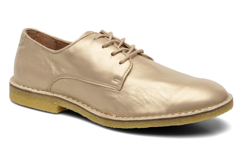 Chaussures à lacets Kickers Neochic Or et bronze vue détail/paire