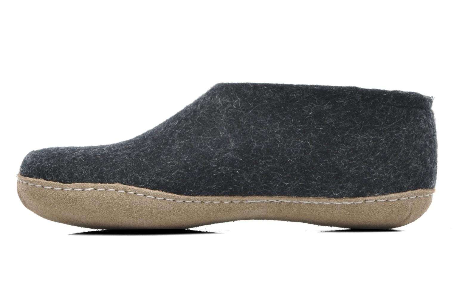 Slippers Glerups Porter M Grey front view
