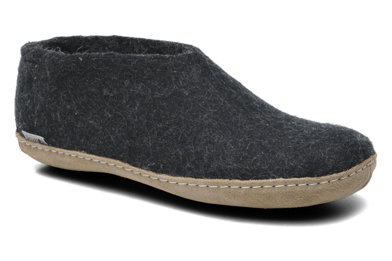 Hjemmesko Glerups Porter M Blå detaljeret billede af skoene