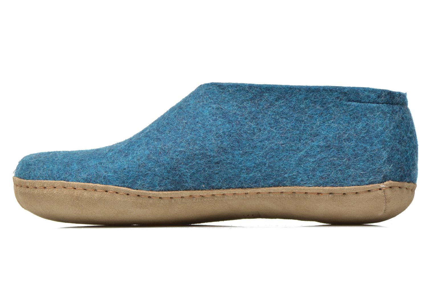 Slippers Glerups Porter M Blue front view