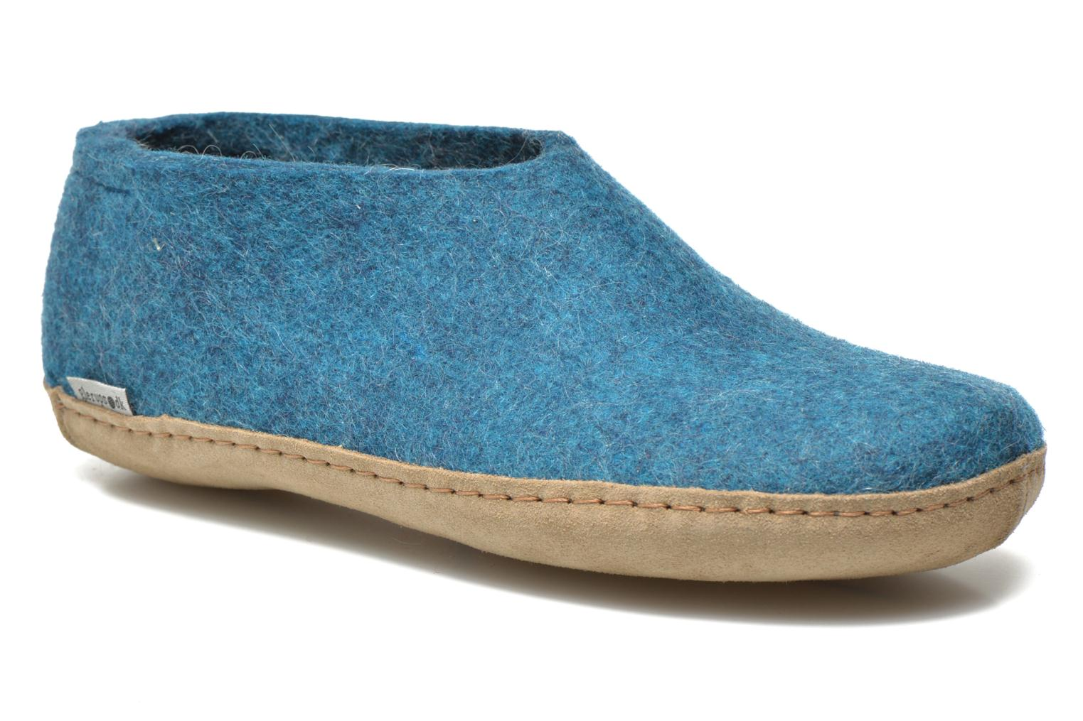 Slippers Glerups Porter M Blue detailed view/ Pair view