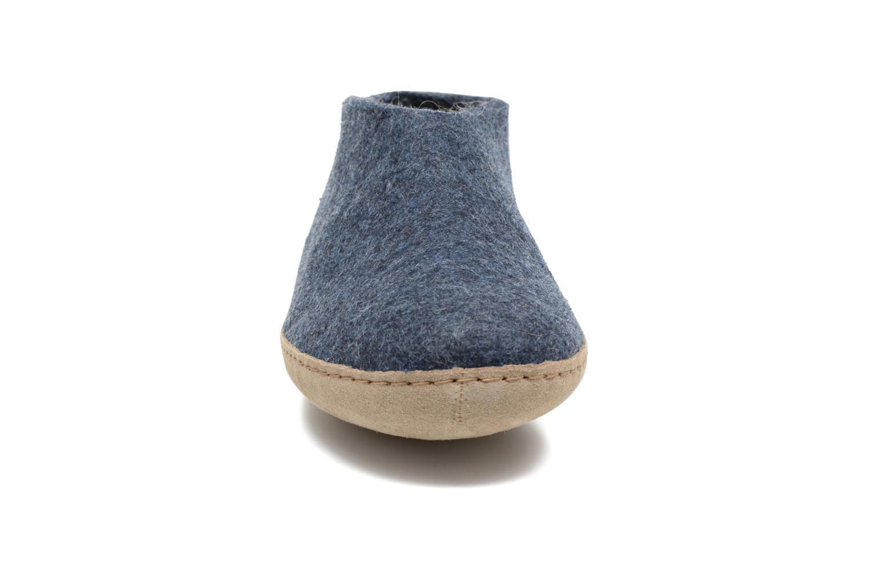 Hausschuhe Glerups Porter M blau schuhe getragen