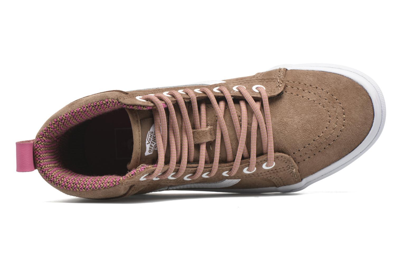 Sneaker Vans SK8-Hi MTE W braun ansicht von links