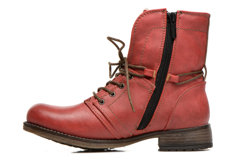 Bottines et boots Mustang shoes Bigz Rouge vue face