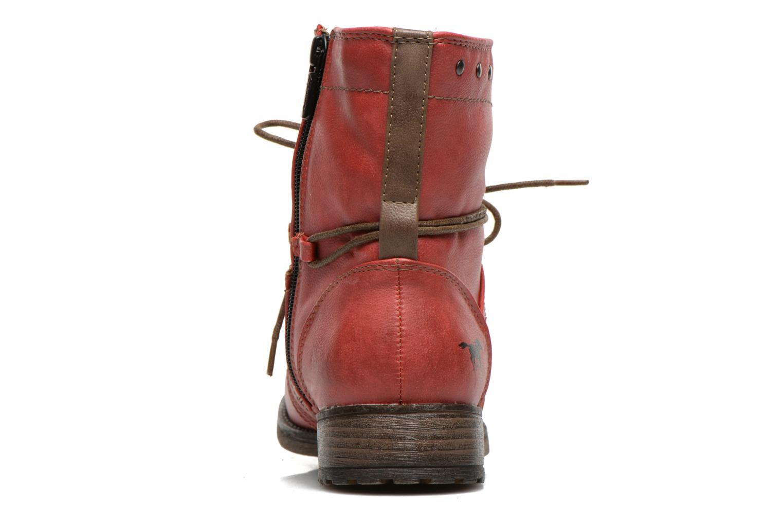 Bottines et boots Mustang shoes Bigz Rouge vue droite