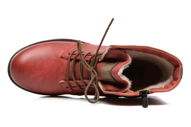 Bottines et boots Mustang shoes Bigz Rouge vue gauche