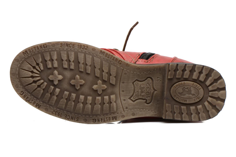 Bottines et boots Mustang shoes Bigz Rouge vue haut