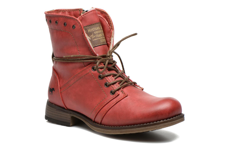 Bottines et boots Mustang shoes Bigz Rouge vue détail/paire