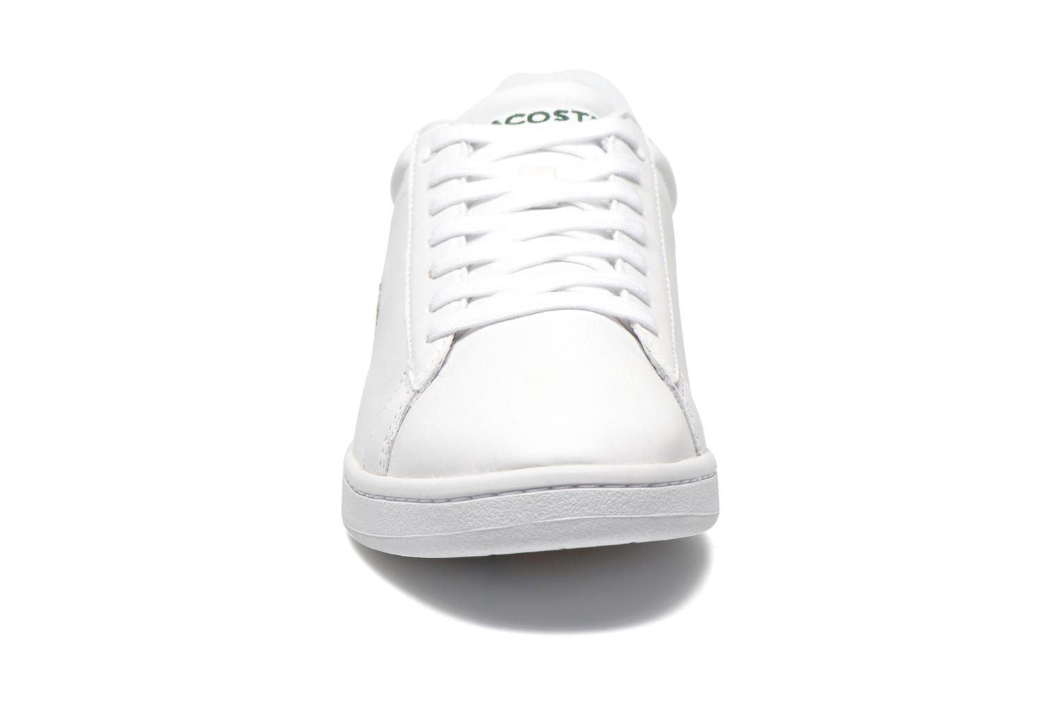 Baskets Lacoste Carnaby Evo Ctr Blanc vue portées chaussures