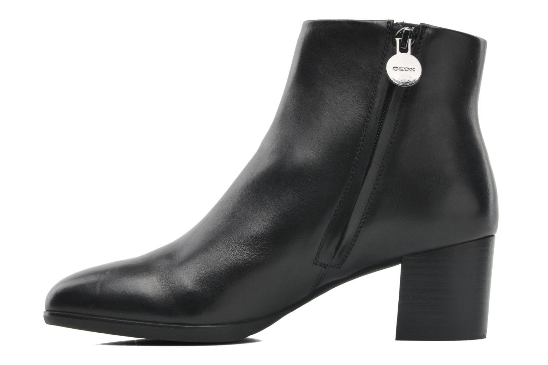 Boots en enkellaarsjes Geox D ERIKAH A D44G8A Zwart voorkant