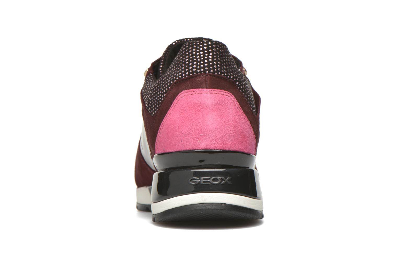 Sneakers Geox D SHAHIRA A D44N1A Vinröd Bild från höger sidan