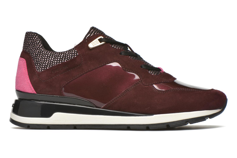 Sneakers Geox D SHAHIRA A D44N1A Vinröd bild från baksidan