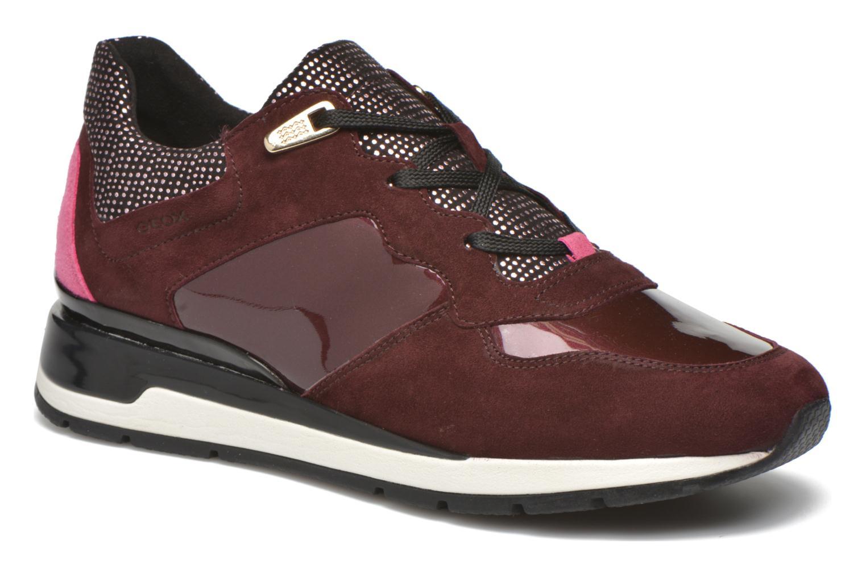 Sneakers Geox D SHAHIRA A D44N1A Vinröd detaljerad bild på paret
