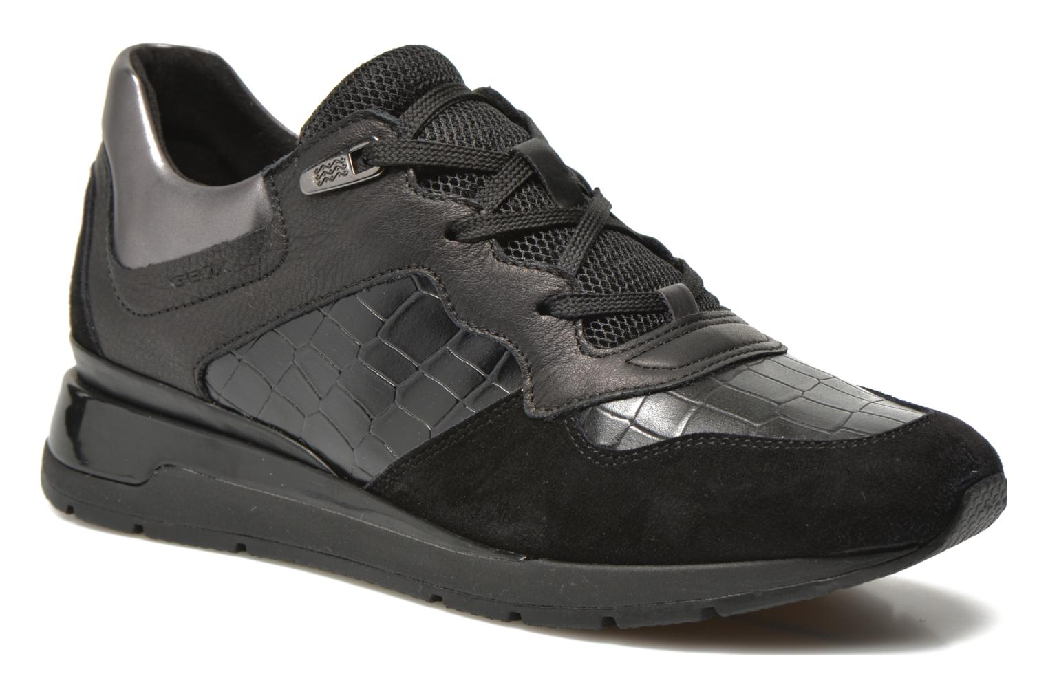 Trainers Geox D SHAHIRA A D44N1A Black detailed view/ Pair view