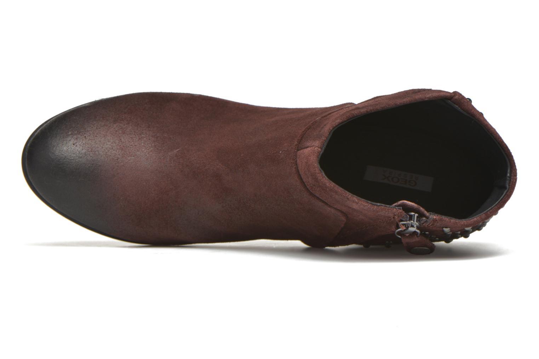 Bottines et boots Geox D LUCINDA C D4470C Bordeaux vue gauche