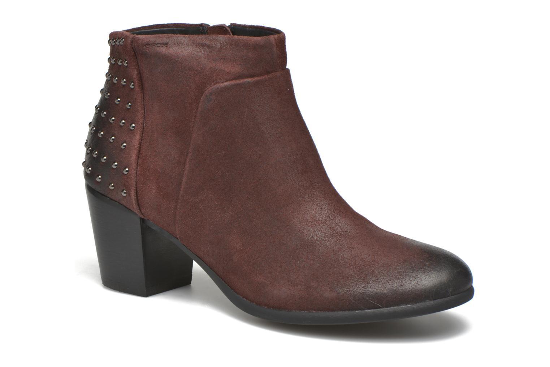 Bottines et boots Geox D LUCINDA C D4470C Bordeaux vue détail/paire