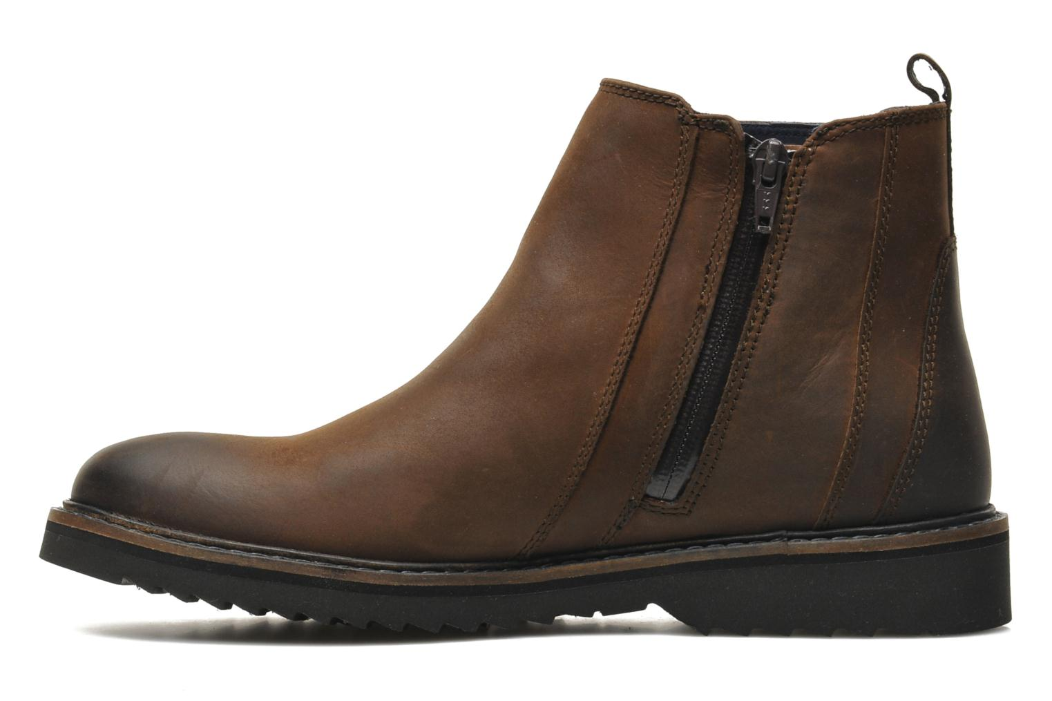 Ankle boots Geox U CHESTER ABX U44T5D Brown front view