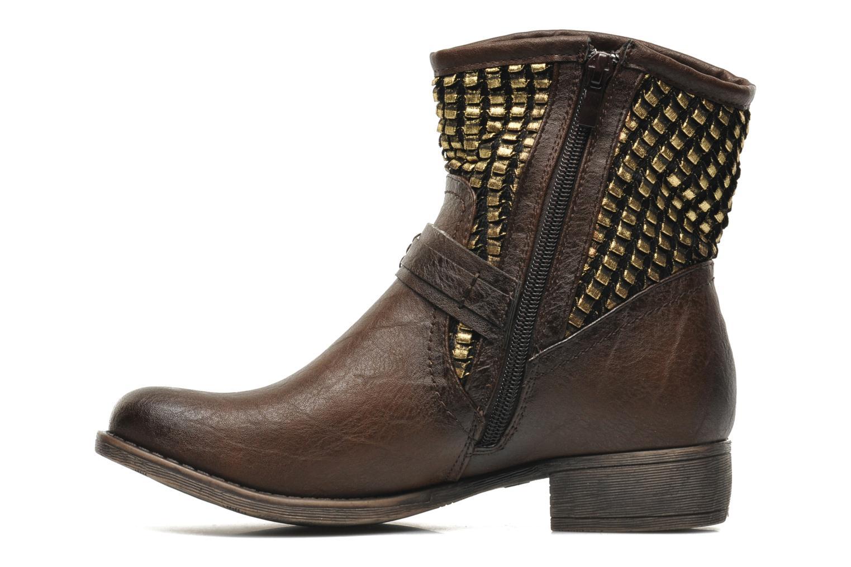 Boots en enkellaarsjes Molly Bracken Ebony Bruin voorkant