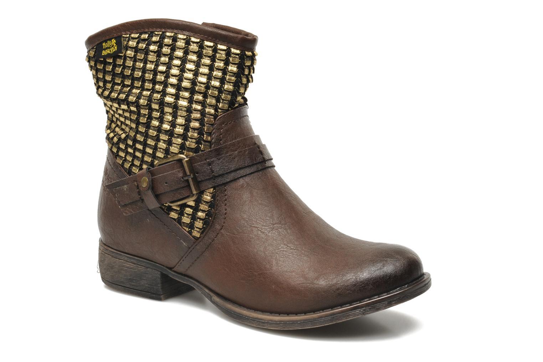 Boots en enkellaarsjes Molly Bracken Ebony Bruin detail