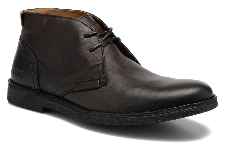 Chaussures à lacets Kickers Mistic Noir vue détail/paire