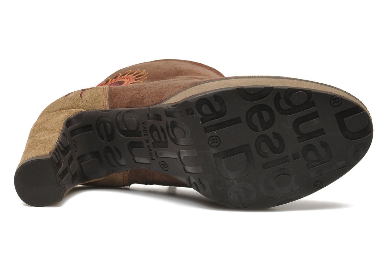 Bottines et boots Desigual Monada Marron vue haut