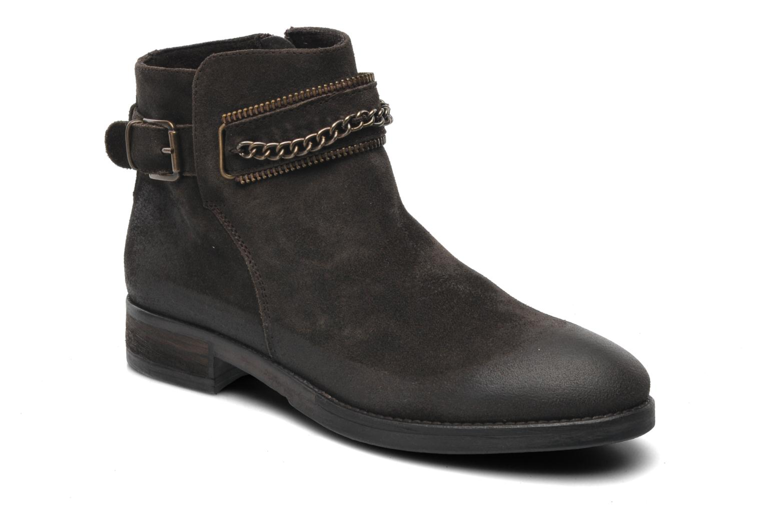 Ankle boots Khrio Hache Brown detailed view/ Pair view