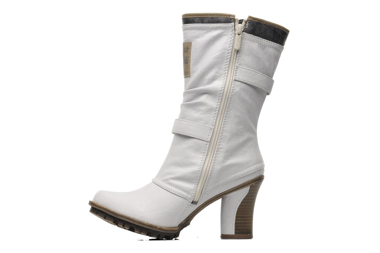 Bottines et boots Mustang shoes Lazlo Blanc vue face