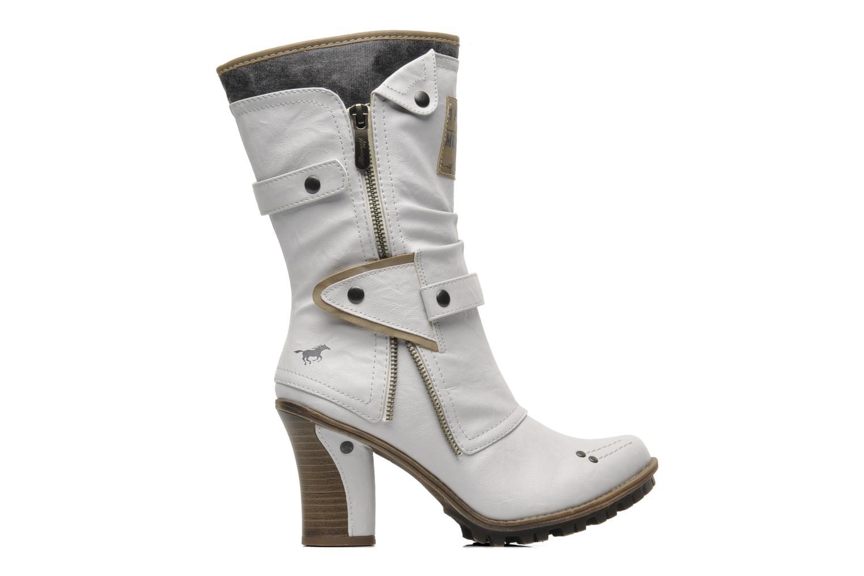 Ankelstøvler Mustang shoes Lazlo Hvid se bagfra
