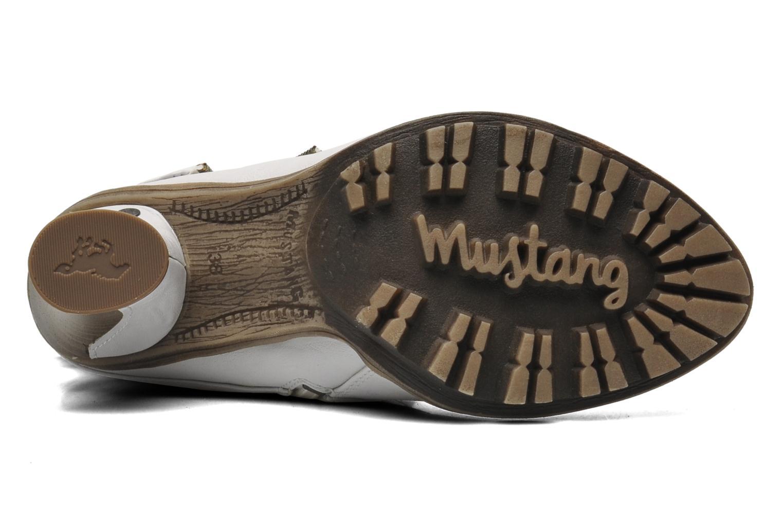 Bottines et boots Mustang shoes Lazlo Blanc vue haut
